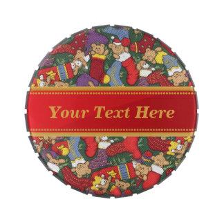 Almacenamiento del navidad latas de caramelos