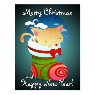 Almacenamiento del navidad tarjetas postales