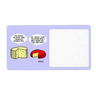 Almacenamiento divertido lindo temático de la etiquetas de envío