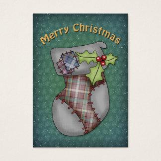 Almacenamiento lindo del navidad tarjetas de visita grandes