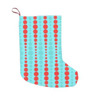 Almacenamiento retro del navidad de los puntos del bota navideña pequeña