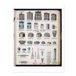 Almacenamiento y utensilios de la cocina de un cat tarjeta postal