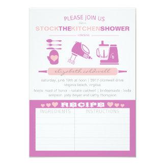"""Almacene el fucsia nupcial moderno de la ducha el invitación 5"""" x 7"""""""