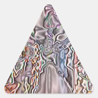 Almacene el modelo abstracto pegatina triangular