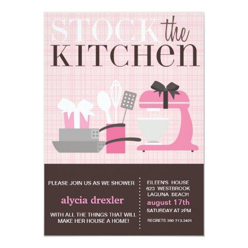 Almacene la cocina invitacion personalizada