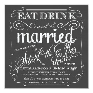 Almacene la invitación de la ducha del boda de la invitación 13,3 cm x 13,3cm