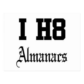 almanacs postcard