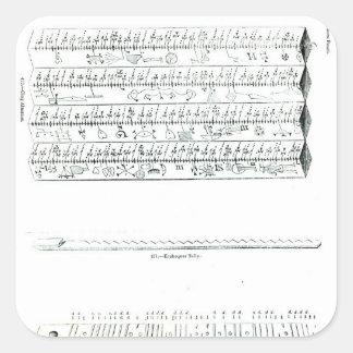 Almanaque del estorbo pegatina cuadrada
