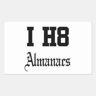 almanaques pegatina rectangular