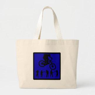 Almas del azul de la bici bolsas