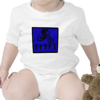 Almas del azul de la bici trajes de bebé