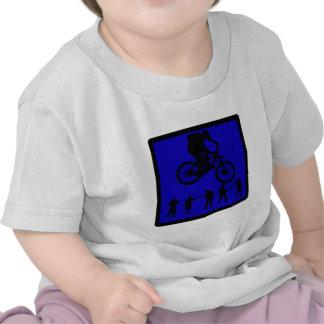 Almas del azul de la bici camiseta