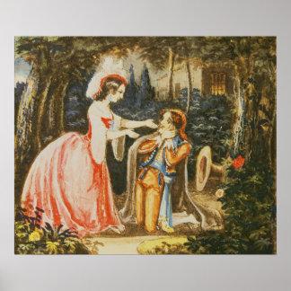 Almaviva kneels before his wife in contrition poster