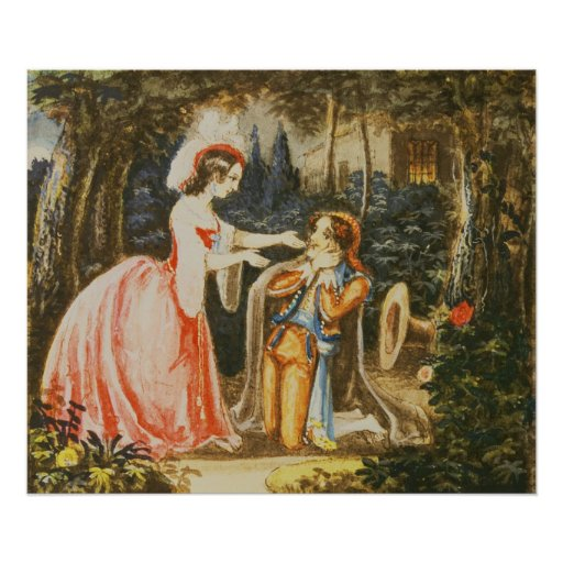 Almaviva kneels before his wife in contrition posters