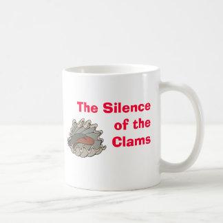Almeja, el silencio de las almejas tazas de café