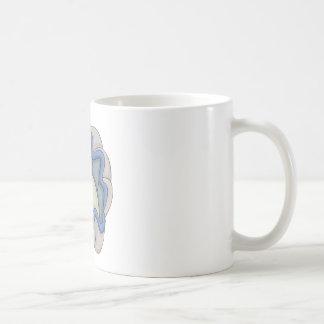 Almeja gigante feliz taza básica blanca