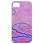Almeja linda Shell bajo púrpura azul del mar iPhone 5 Carcasa