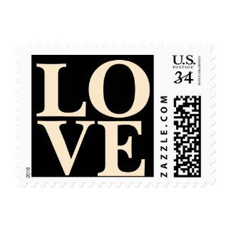 Almendra blanqueada amor elegante de moda de los sello postal