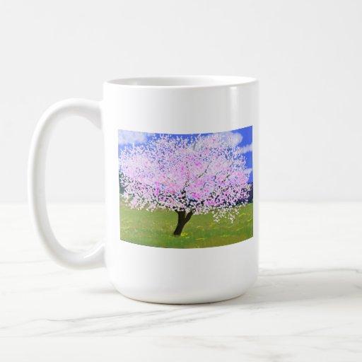 Almendra en la floración taza clásica