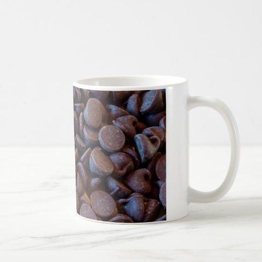 Almendras y microprocesadores de chocolate taza