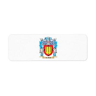 Almer Coat Of Arms Custom Return Address Labels