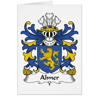 Almer Family Crest Greeting Cards