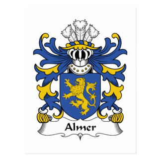 Almer Family Crest Post Card
