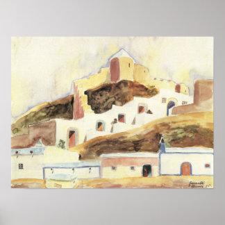 Almería de Gualterio Gramatte, expresionismo del v Poster