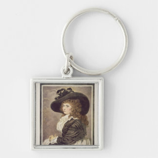 Almeria, engraved and pub. by John Raphael Silver-Colored Square Keychain