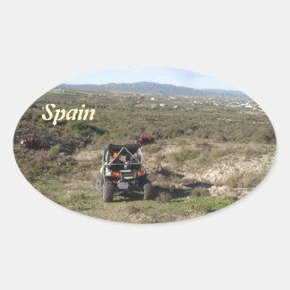 Almeria Spain Oval Sticker