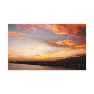 Almeria Sunset Stretched Canvas Print
