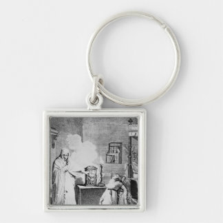 Almighty God - My Mother' Silver-Colored Square Keychain