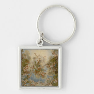 Almighty God the Father - Palace of Versailles Silver-Colored Square Keychain