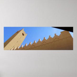 Alminar de Kindi del Al de Sahat Póster