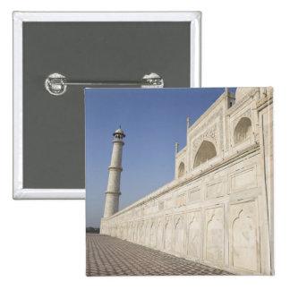 Alminares coronados en el Taj Mahal, visión desde  Pin Cuadrada 5 Cm