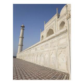 Alminares coronados en el Taj Mahal, visión desde Tarjetas Postales