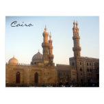 alminares de la mezquita de El Cairo Tarjeta Postal