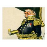 Almirante de la marina de guerra real tarjeta postal