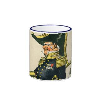 Almirante de la marina de guerra real taza de dos colores
