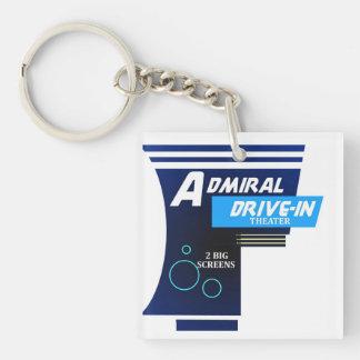 Almirante Drive-In Logo Llavero Cuadrado Acrílico A Una Cara