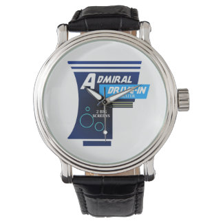 Almirante Drive-in Theater Logo Watch Relojes De Mano
