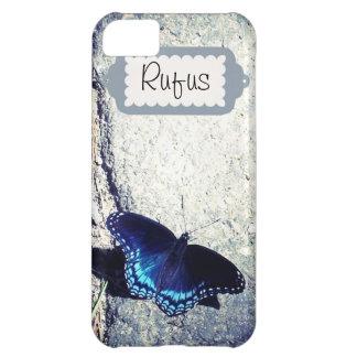 Almirante manchado rojo Butterfly Carcasa Para iPhone 5C