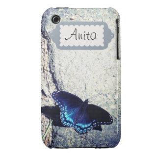 Almirante manchado rojo Butterfly Case-Mate iPhone 3 Protector