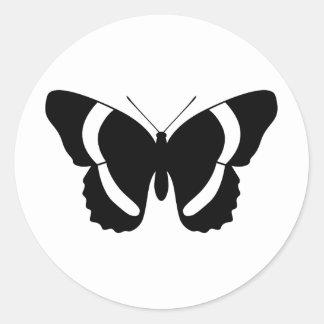 Almirante negro Butterfly Silhouette Custom Pegatina Redonda