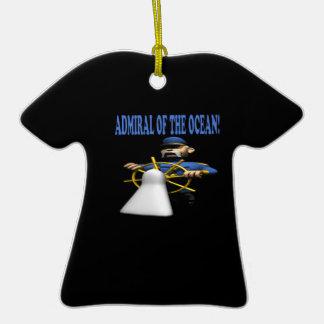 Almirante Of The Ocean Adorno De Cerámica En Forma De Camiseta