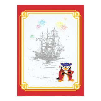 Almirante Penguin Invitation Invitación Personalizada