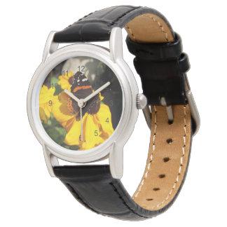 Almirante rojo en Susan observada negro Relojes De Mano