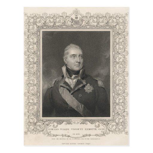 Almirante sir Edward Pellew, c.1810 Postal