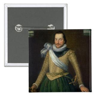 Almirante sir Thomas Button (d.1694) Pin Cuadrada 5 Cm
