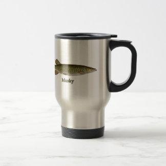 Almizclado (muskellunge) taza de viaje de acero inoxidable